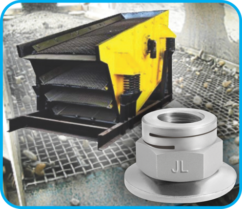 All-Metal Locknuts Improve Mining Shaker Tables