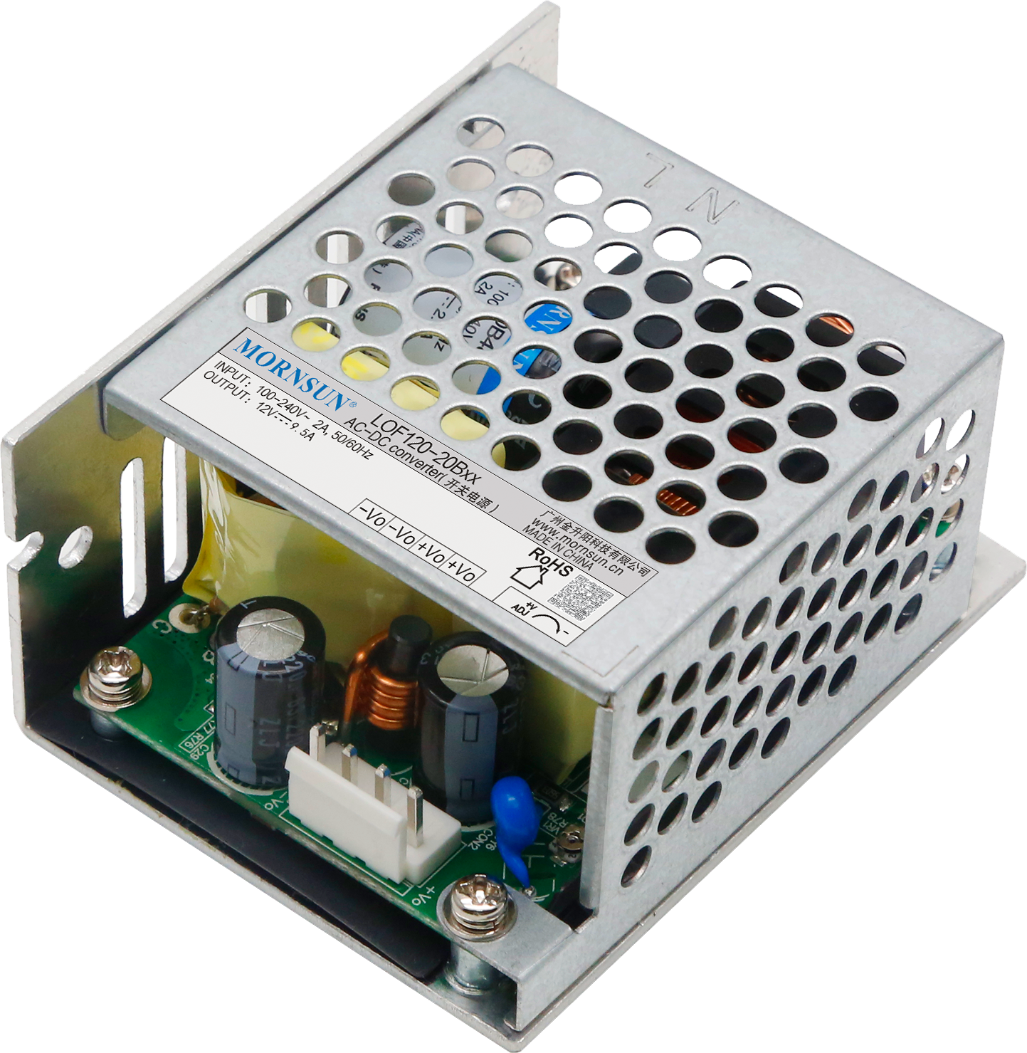 Mornsun LOF120 enclosed medical power supply