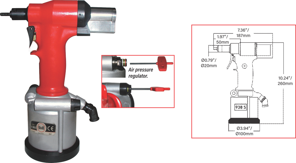 ATLAS® RIV938S SMALL, LIGHTWEIGHT PULL-TO-PRESSURE TOOL