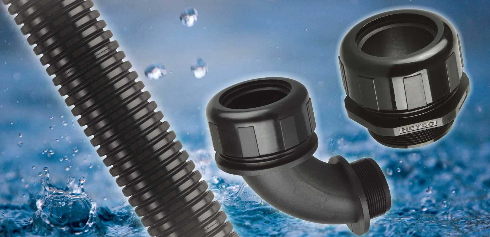 Heyco Nylon Corrugated Conduit and Fittings