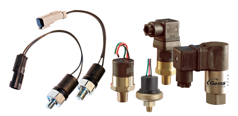 Gems Pressure Sensors, Piston/Diaphram & Sealed Piston Switches