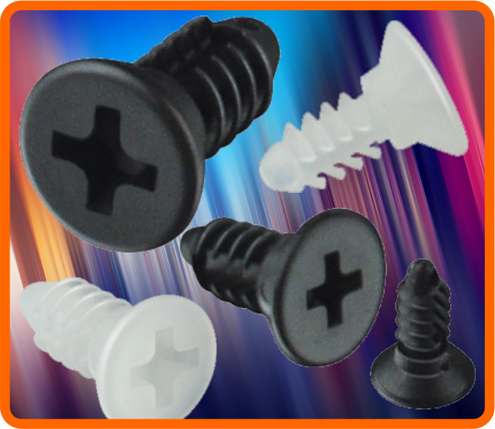 Heyco HEYClip Nylon Push Screws
