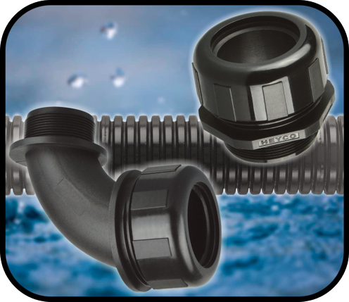 Heyco Liquid Tight Flexible Conduit and Fittings