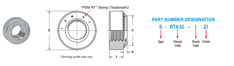 PEM RT Part Number and Mechanical