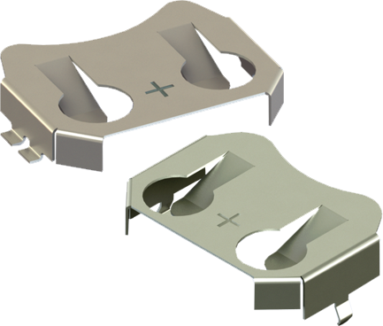 Ultra-Low Profile Retainers for 20mm Coin Cells