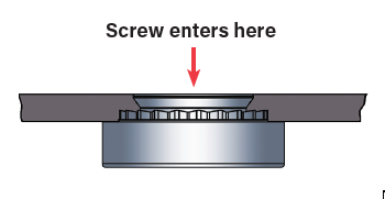 PEM RT Screw Entry Direction